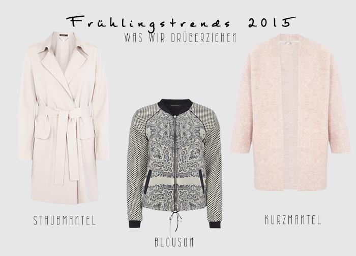 Frühlingstrends 2015 #1 — Staubmantel, Blouson und Kurzmantel